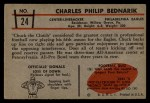 1953 Bowman #24  Chuck Bednarik  Back Thumbnail
