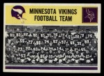 1964 Philadelphia #111   Vikings Team Front Thumbnail