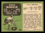 1970 Topps #35  Eddie Shack  Back Thumbnail