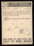 1959 Topps #158  Vince Costello  Back Thumbnail