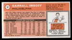 1970 Topps #57  Darrall Imhoff   Back Thumbnail