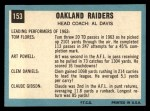 1964 Topps #153   Oakland Raiders Team Back Thumbnail
