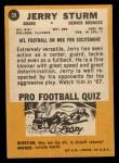 1967 Topps #39  Jerry Sturm  Back Thumbnail