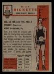 1957 Topps #8  Dick Ricketts  Back Thumbnail