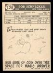 1959 Topps #128  Bob Schnecker  Back Thumbnail