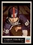 1965 Philadelphia #122  Aaron Thomas   Front Thumbnail