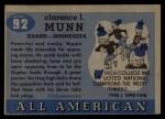 1955 Topps #92  Clarence Biggie Munn  Back Thumbnail