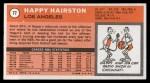 1970 Topps #77  Happy Hairston   Back Thumbnail