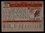 1957 Topps #86  Bill Sarni  Back Thumbnail
