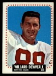 1964 Topps #72  Willard Dewveall  Front Thumbnail