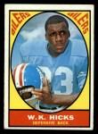 1967 Topps #50  W.K. Hicks  Front Thumbnail