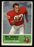 1962 Fleer #32  Mel Branch  Front Thumbnail