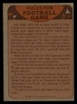 1974 Topps Football Team Checklists #17   Saints Team Checklist Back Thumbnail