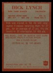 1965 Philadelphia #119  Dick Lynch   Back Thumbnail