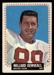 1964 Topps #72  Willard Dewveall  Front Thumbnail