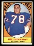 1967 Topps #21  Jim Dunaway  Front Thumbnail