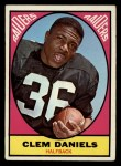 1967 Topps #110  Clem Daniels  Front Thumbnail