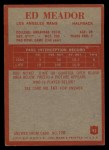 1965 Philadelphia #92  Ed Meador  Back Thumbnail