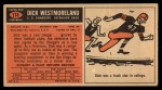 1965 Topps #174  Dick Westmoreland  Back Thumbnail