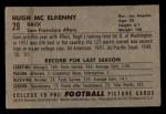 1952 Bowman Small #29  Hugh McElhenny  Back Thumbnail