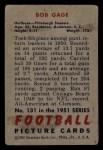 1951 Bowman #131  Bob Gage  Back Thumbnail