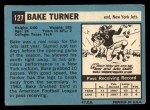 1964 Topps #127  Bake Turner  Back Thumbnail