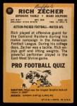 1967 Topps #87  Rich Zecher  Back Thumbnail