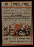 1962 Topps #145  Gerald Perry  Back Thumbnail