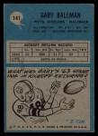 1964 Philadelphia #141  Gary Ballman  Back Thumbnail