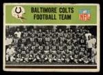 1965 Philadelphia #1   Colts Team Front Thumbnail