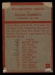 1965 Philadelphia #140   -  Joe Kuharich  Eagles  Back Thumbnail
