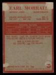 1965 Philadelphia #65  Earl Morrall   Back Thumbnail