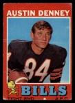 1971 Topps #187  Austin Denney  Front Thumbnail
