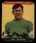 1933 Goudey Sport Kings #6  Jim Thorpe   Front Thumbnail