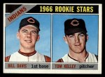 1966 Topps #44   -  Tom Kelley / Bill Davis Indians Rookies Front Thumbnail