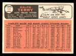 1966 Topps #109  Ralph Terry  Back Thumbnail