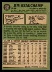 1967 Topps #307  Jim Beauchamp  Back Thumbnail