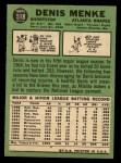 1967 Topps #518  Denis Menke  Back Thumbnail