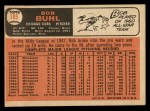 1966 Topps #185  Bob Buhl  Back Thumbnail