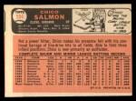 1966 Topps #594  Chico Salmon  Back Thumbnail