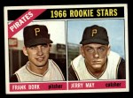1966 Topps #123   -  Frank Bork / Jerry May Pirates Rookies Front Thumbnail
