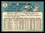 1965 Topps #184 *ERR* John Boozer  Back Thumbnail
