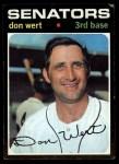 1971 Topps #307  Don Wert  Front Thumbnail