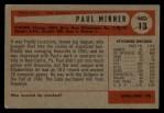 1954 Bowman #13  Paul Minner  Back Thumbnail