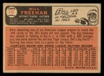 1966 Topps #145  Bill Freehan  Back Thumbnail
