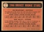 1966 Topps #84   -  Jim Beauchamp / Dick Kelley Braves Rookies Back Thumbnail