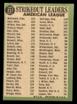 1967 Topps #237   -  Jim Kaat / Sam McDowell / Earl Wilson AL Strikeout Leaders Back Thumbnail