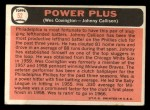 1966 Topps #52   -  Wes Covington / Johnny Callison Power Plus Back Thumbnail