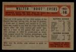 1954 Bowman #18  Hoot Evers  Back Thumbnail