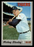 1970 Topps #383  Mickey Stanley  Front Thumbnail